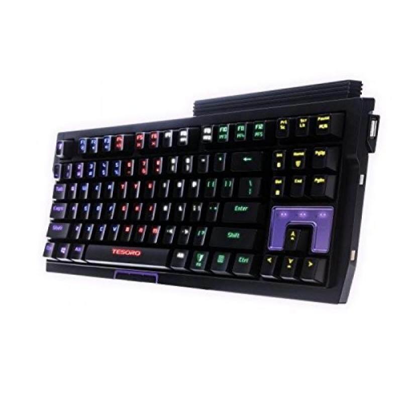 Tesoro Tizona Elite G2NFL Blue Mechanical Switch USB Hub Tenkeyless Tournament Full Color RGB LED Backlit Illuminated Gaming Mechanical Keyboard TS-G2NFL (BL) - intl Singapore
