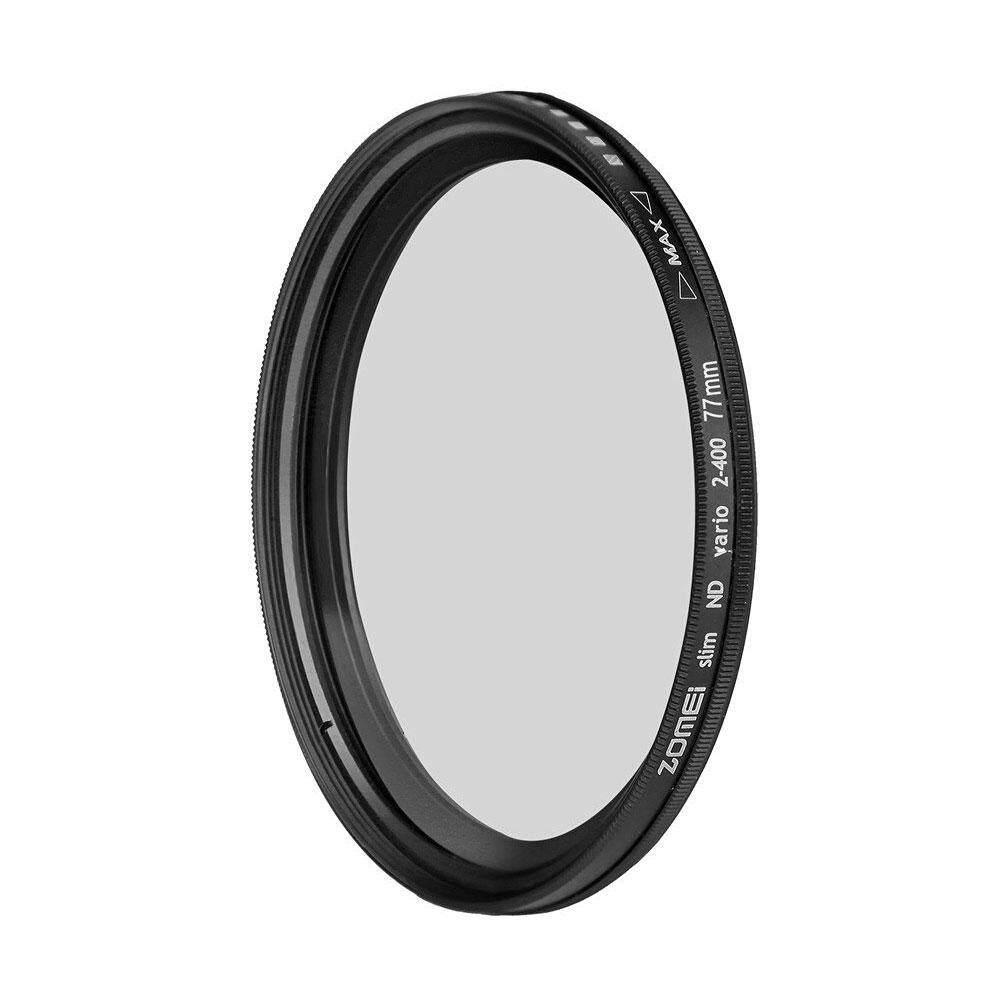 toobony Mjack® ND2-ND400 Fader Variable Neutral Lens Filter Adjustable Photography Accessories Nine Size to Choose - intl