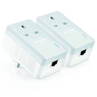 TP-LINK PA4010PKIT 500MB/s Powerline Homeplug Adapters AC PassThrough Starter Kit