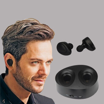 Twins Portable Mini Wireless Bluetooth+CSR Earphones Clear BassNoise Isolating In-Ear Stereo Earbuds For Phone PC Mp3