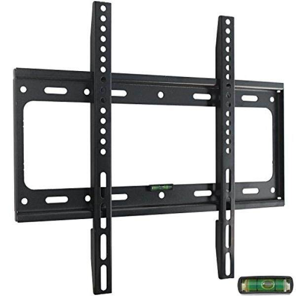 Ultra Slim TV Wall Mount Bracket for 32 37 39 40 42 43 46 48 50 51 55 inch Flat LCD LED Plasma HDTV Smart TV, Max VESA 400x400mm, Bubble Level Included - intl