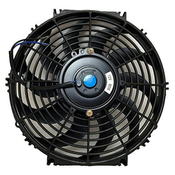Upgr8 Universal High Performance 12V Slim Electric Cooling Radiator Fan  With Fan Mounting Kit   Intl