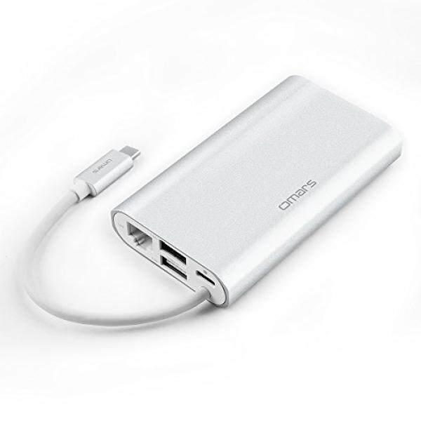 USB C HUB (6 In 1) OMARS dengan RJ45 Gigabit Ethernet, HDMI 4 K, VGA, 2 X USB 3.0, USB C Adapter dengan Power Delivery untuk Huawei MateBook, Macbook Pro 2017/2016, Google Chromebook Pixel dan PC Lain-Intl