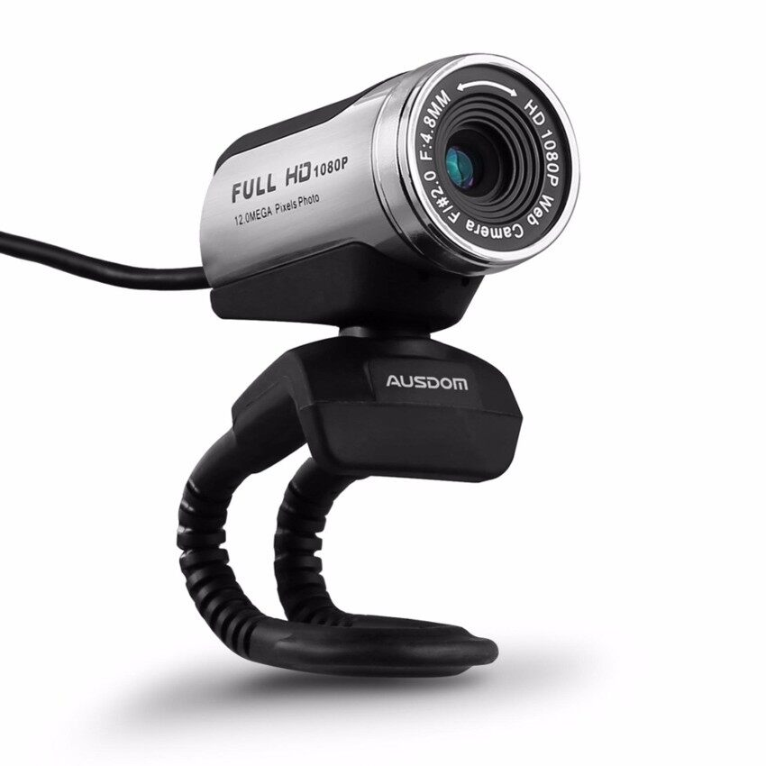 USB Webcam 1080P. AUSDOM 12.0M HD Camera Web Cam with Built-in Microphone Clip-On for Laptop Desktop Computer PC Skype Vedieo Call & Recording. Compatible with Windows 7/8/10. Auto Exposure. Digital Zoom. Manual Focusing - Black - intl