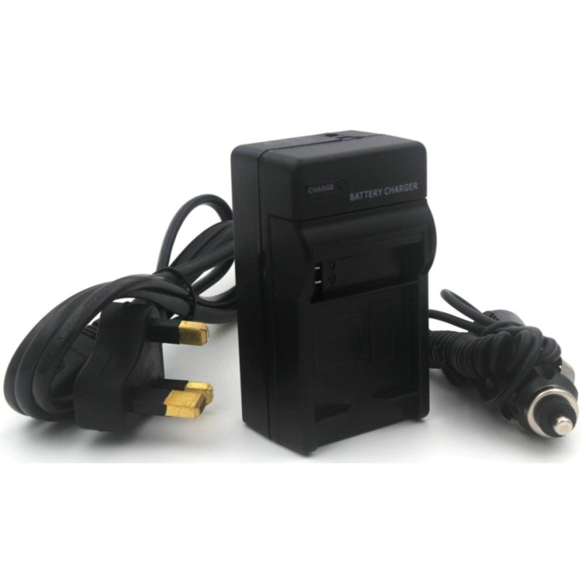 VW-VBD1 Charger for Panasonic NV-DS5, AG-BP25, AG-EZ1, AG-EZ20, NV-DE3, NV-DJ1, NV-DL1, NV-DP1, NV-DR1, NV-DS1, NV-DX1, NV-DX100, NV-DX110 Camera and More with UK Power Plug and Car Adapter