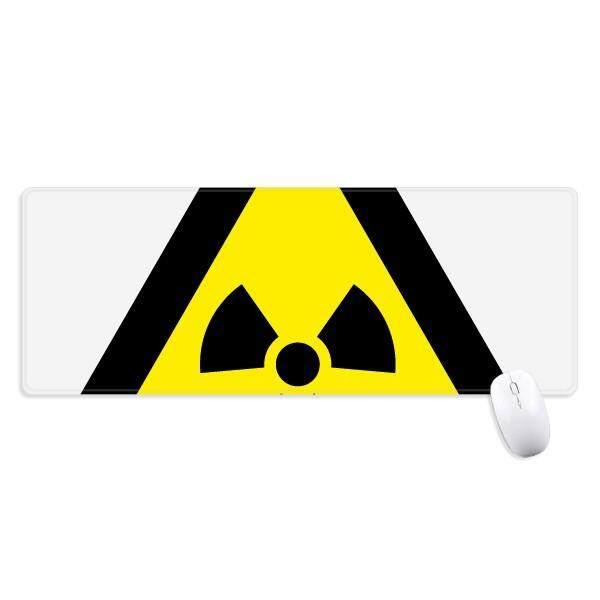 Simbol Peringatan Kuning Hitam Ionisasi Radiasi Segitiga Non-slip Alas Mouse Besar Diperpanjang Permainan Kantor Titched Tepi Komputer Alas Hadiah -Internasional