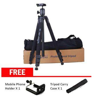 Weifeng (WF-6662A) Ball Head Camera Tripod with Carrying Bag for Canon Nikon DSLR SLR Professional Camera Holder