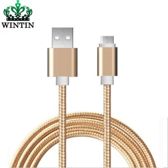 Wintin Micro USB Cable Phone Charging & Data Sync Cord NylonWire 1m 2m for Xiaomi Samsung Huawei android smartphoneTablet(Gold)