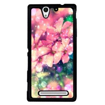 Y&M Cell Phone Case For SONY Xperia C3 Beautiful Flower PatternCover (Multicolor)