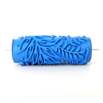 044Y DIY Tree Pattern Paint Roller for Wall Decoration (Blue)