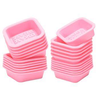 100% HAND MADE Reusable Silicone Soap Mold Pink DIY Square HandmadeSoaps Moulds Microwave, Oven, Refrigerator and Dishwasher Safe