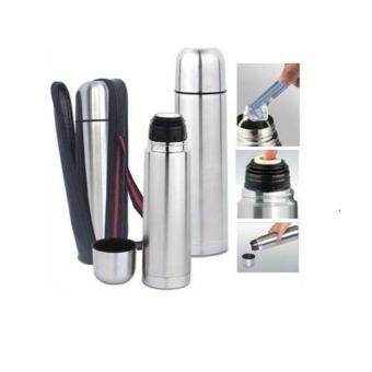 1.0L DOUBLE WALL Stainless Steel Power Flask HOT & COLD + FreeFlask Carry Bag