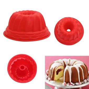 2 pc Bundt Ring Silicone Bakeware Mould Cake Pan Bread Pastry TinBaking Mold Tool Home Kitchen Supplies