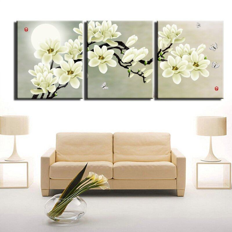 3 piece modern wall painting beauty nude women home for Modern home decor pieces