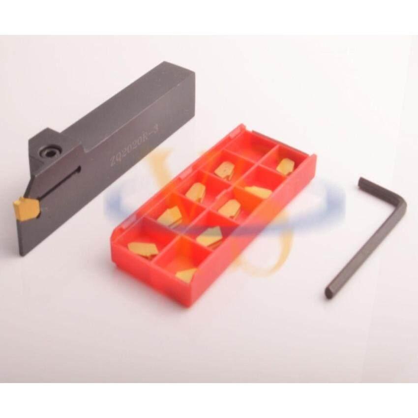 20mm Perpisahan Off Mengubah Toolholder ZQ2020R + 10 3mm Carbide Sisipan Alat Bubut & Nbsp;-Intl