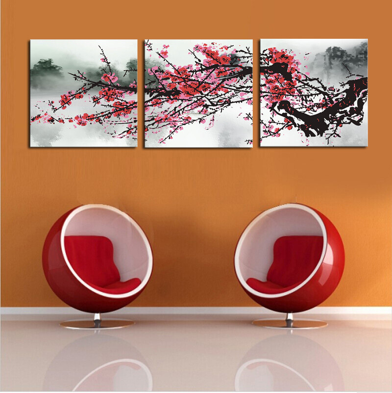 Large modern abstract hand painted art oil painting wall Interiors by design canvas art