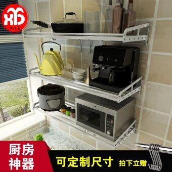 304 stainless steel kitchen shelf wall microwave oven rack Wall Shelf storage rack