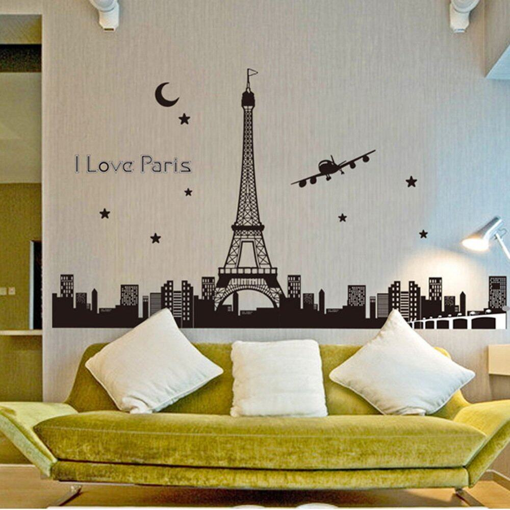 360DSC Eiffel Tower Wall Stickers Fluorescent Luminous Decal Room Wall Decor  (60*90CM) | Lazada Malaysia