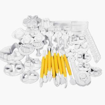37Pcs Cake Fondant Sugarcraft Plunger Decorating Mold Cookie Cutters Mould Set