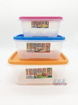 3pcs Reusable Plastic Food Storage Containers with Air Tight Lids