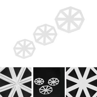 3pcs/set Bunting Flag Cutters Cake Decorating Mold ChocolateFondant Mould DIY Tool