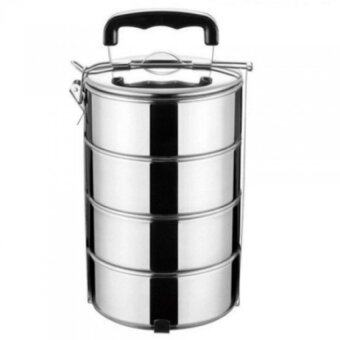 4 Layers Stainless Steel High Quality Food Container (Silver)