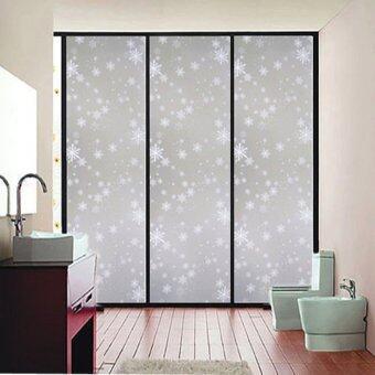 45x200CM Waterproof Frosted Privacy Bedroom Bathroom Window Glass Film Sticker