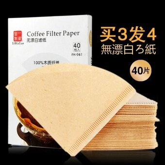 A house kiln coffee filter paper V60 drip-filter paper hand punchcoffee pot no bleach filter paper bag