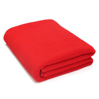 Absorbent Microfiber Towel Bath Quick Drying Washcloth Bath Red