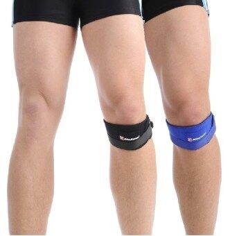 Adjustable Basketball Sports Special Shock-absorbing Knee PatellaWith Knee Pads Kinesio tape Knee Protector Black
