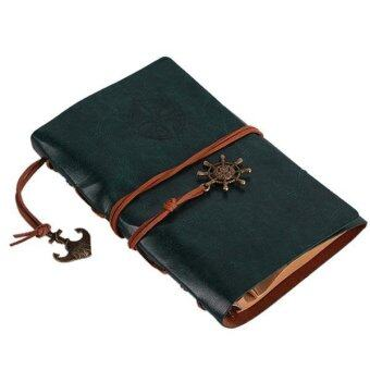 Ai Home Vintage Blank Loose-leaf Notebook Diary Sketchbook NotepadS (Green)