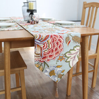 American coffee table dining table Linen fabric with Spike tableflag