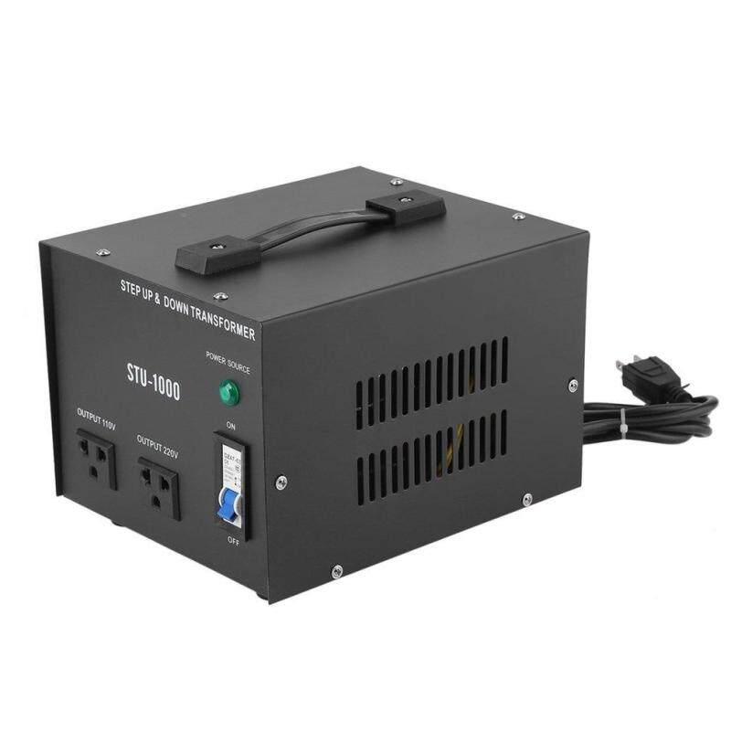 Belle 1000W Step Up&Down Electrical Power 220-110V Voltage Converter Transformer black US Plug