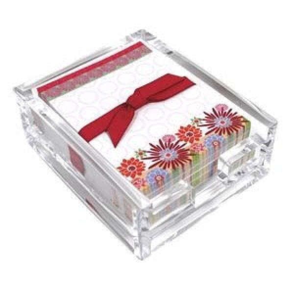 Blooming Warna Akrilik Meja Tulis Catatan Set, Lembar Memo dan Pemegang Akrilik, 180 Catatan Makalah, 3.25X4.25