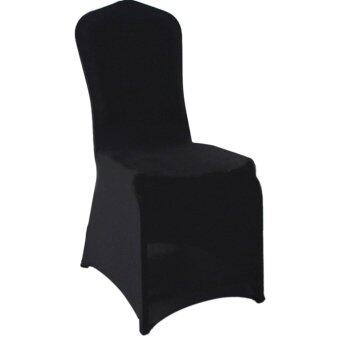 BolehDeals Spandex Chair Cover Slipcover Case Wedding Party BanquetHome Decor Black