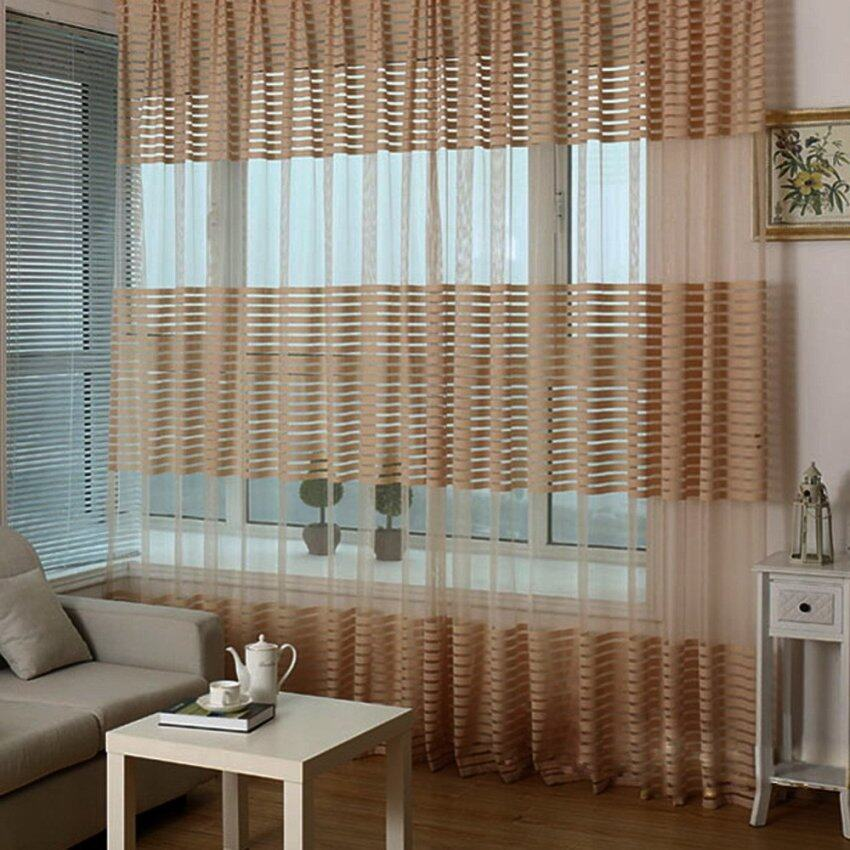 Luxurious upscale jacquard yarn curtains pink lazada for Balcony curtains