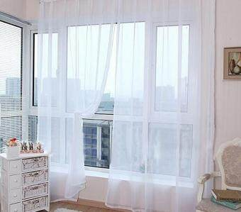BUYINCOINS Bright Candy Color Floral Voile Curtain Beautiful HouseDecor Door Window Curtain Panel Sheer Valances Scarf