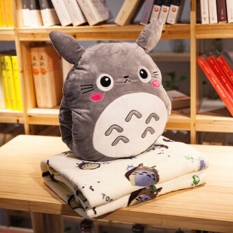 Cartoon blanket Dual Use car cushion Totoro
