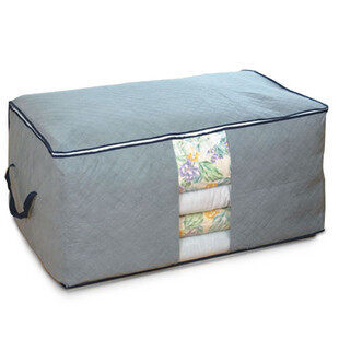 Colorful Bamboo Charcoal Cotton Anti-mold organizing storage bag blanket storage bag