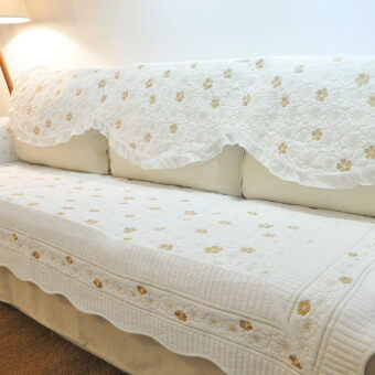Cotton White European-style double-sided sofa cover sofa pad