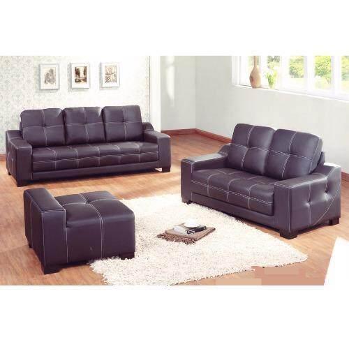 Sg tan classic sofa 3 seater stool black lazada malaysia for Classic sofa malaysia