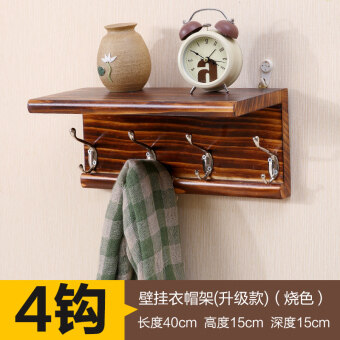 Door after hook shelf rack wall bedroom hanging clothes hook bathroom wall hangers wood creative wall coat hook