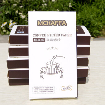 Drop filter-hand punch coffee filter paper bag