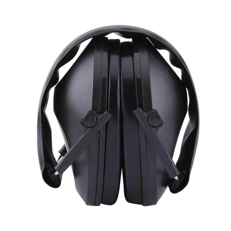 Ear Muffs Hearing Protection Shooting Foldable Noise Reduction 21dB (Black)
