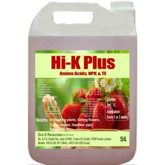 Eco G Hi-K Plus Bio Fertilizer foliar NPK Amino Asid Trace Elements- 5L