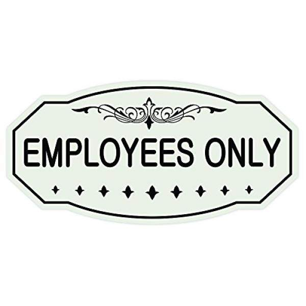 EMPLOYEES ONLY Victorian Door / Wall Sign - 3 x 6 - intl