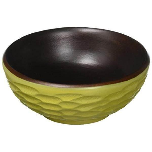 Enrico 3180MH4080S Kayu Mangga Set 2 Honeycomb Sisi Mangkuk Salad, Alpukat-Internasional