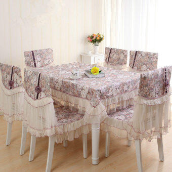 European-style coffee table pastoral lace fabric dining chaircushion table cloth