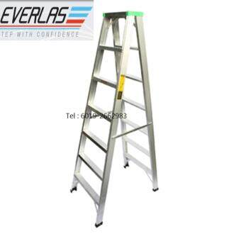 Everlas Ds07 7 Steps Double Sided Aluminium Ladder 1728mm