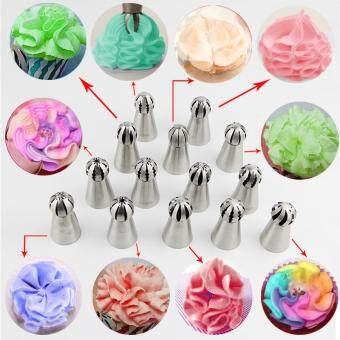 Fantastic Flower Hottest 1pc Bakeware Sphere Ball Shape CreamStainless Steel Icing Piping Nozzles Pastry Tips CupcakeButtercream Bake Tool??Pattern #13